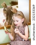 the little princess with lip...   Shutterstock . vector #232153369
