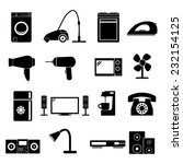 home appliances icons | Shutterstock .eps vector #232154125