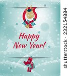 2015 happy new year greeting... | Shutterstock .eps vector #232154884