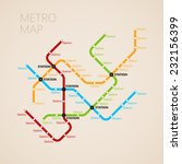 metro  subway  map design... | Shutterstock .eps vector #232156399