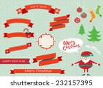 merry christmas elements | Shutterstock .eps vector #232157395