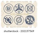 stamps   screws and motors ... | Shutterstock .eps vector #232157569