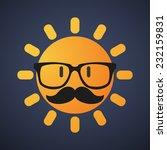 illustration of a hipster   sun ... | Shutterstock .eps vector #232159831