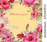 background of roses 2   Shutterstock . vector #232163911