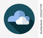 flat icon of cloud with long...