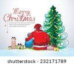 santa with child celebrating... | Shutterstock .eps vector #232171789