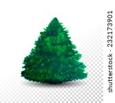 christmas tree isolated on... | Shutterstock .eps vector #232173901