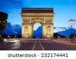 arc de triomphe in paris in the ... | Shutterstock . vector #232174441