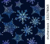 watercolor snowflakes seamless... | Shutterstock .eps vector #232178065