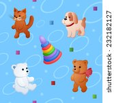 Childish Colorful Pattern With...
