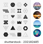 set of geometric shapes.... | Shutterstock .eps vector #232182685