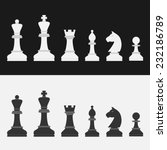 set of flat style chess figures | Shutterstock . vector #232186789