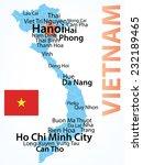 vietnam   vector map with... | Shutterstock .eps vector #232189465