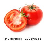 tasty tomatoes isolated on the... | Shutterstock . vector #232190161