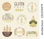 gluten free labels. vector eps...