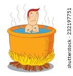 boiled man | Shutterstock .eps vector #232197751