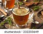 homemade hot buttered rum for... | Shutterstock . vector #232203649