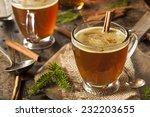 homemade hot buttered rum for... | Shutterstock . vector #232203655