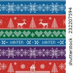 winter. vector seamless pattern.... | Shutterstock .eps vector #232207594
