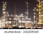 oil refinery plant at night | Shutterstock . vector #232209265