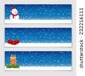 christmas banners. vector... | Shutterstock . vector #232216111