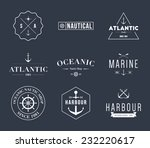 set of logos retro vintage... | Shutterstock .eps vector #232220617