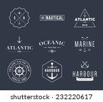 set of retro vintage nautical... | Shutterstock .eps vector #232220617