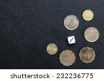 Hongkong Dollar Coin And Dice...
