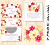 wedding invitation cards with... | Shutterstock .eps vector #232238329