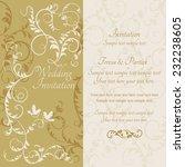 antique baroque wedding... | Shutterstock .eps vector #232238605
