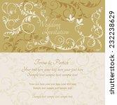antique baroque wedding... | Shutterstock .eps vector #232238629