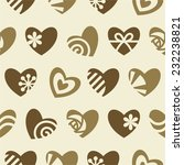 seamless pattern of hearts | Shutterstock .eps vector #232238821