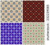vector seamless pattern of 4... | Shutterstock .eps vector #232239085