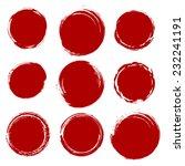 grunge shapes  set  red... | Shutterstock .eps vector #232241191