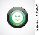 smile sign icon green shiny...
