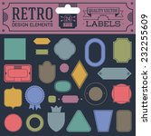 retro design elements hipster... | Shutterstock .eps vector #232255609