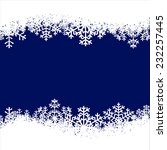 christmas card with snowflakes... | Shutterstock .eps vector #232257445
