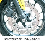 the front wheel of a... | Shutterstock . vector #232258201