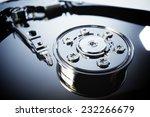 closeup of an open computer... | Shutterstock . vector #232266679