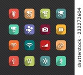 set of flat icons for mobile...