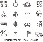 army icons | Shutterstock .eps vector #232278985