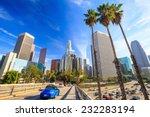 downtown los angeles skyline... | Shutterstock . vector #232283194