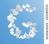 letter g composed by paper on... | Shutterstock . vector #232284514