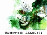 white roses grunge illustration ... | Shutterstock .eps vector #232287691