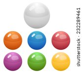 set of glossy colored balls on... | Shutterstock .eps vector #232289461