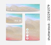 watercolor business templates... | Shutterstock .eps vector #232291579