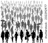 crowd of people isolated on... | Shutterstock .eps vector #232292977