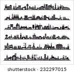 industry icons over white... | Shutterstock .eps vector #232297015