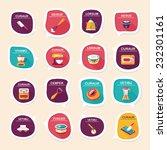 kitchenware bubble speech flat...   Shutterstock .eps vector #232301161