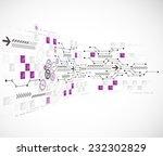 abstract technology business... | Shutterstock .eps vector #232302829